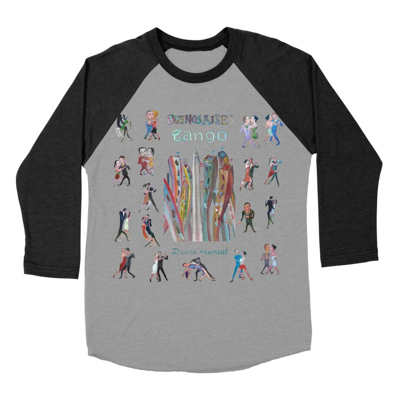 Buenos Aires tango 7 Women's Baseball Triblend Longsleeve T-Shirt by diegomanuel's Artist Shop