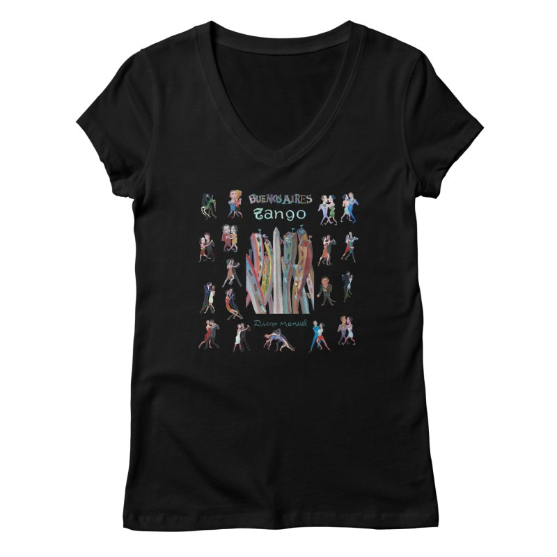 Buenos Aires tango 7 Women's V-Neck by Diego Manuel Rodriguez Artist Shop