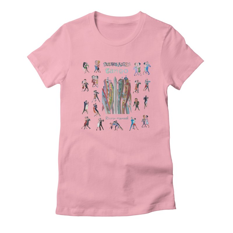 Buenos Aires tango 7 Women's Fitted T-Shirt by diegomanuel's Artist Shop