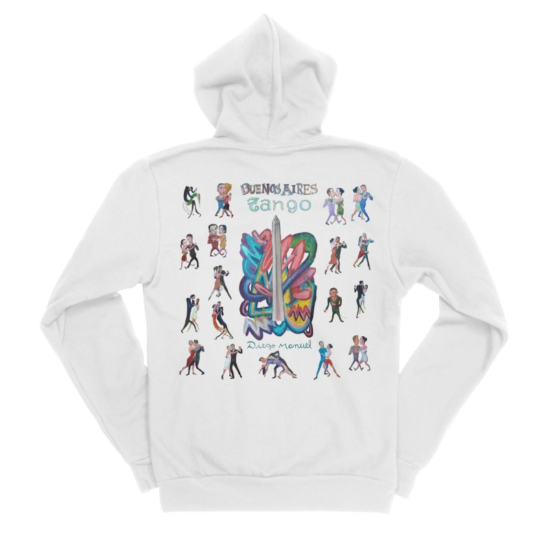 Buenos Aires tango 6 Women's Sponge Fleece Zip-Up Hoody by diegomanuel's Artist Shop