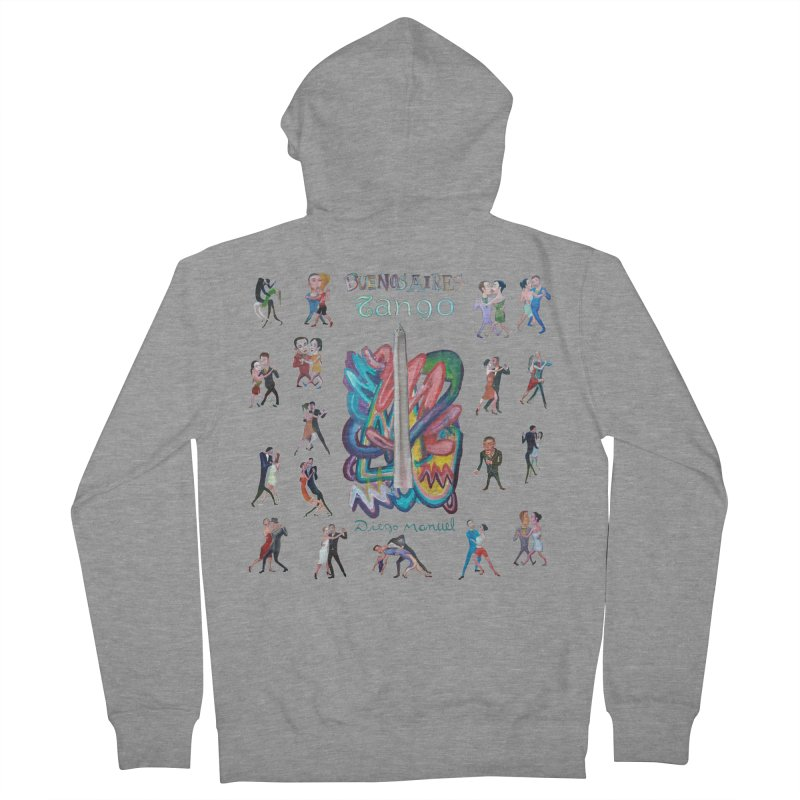 Buenos Aires tango 6 Women's French Terry Zip-Up Hoody by diegomanuel's Artist Shop