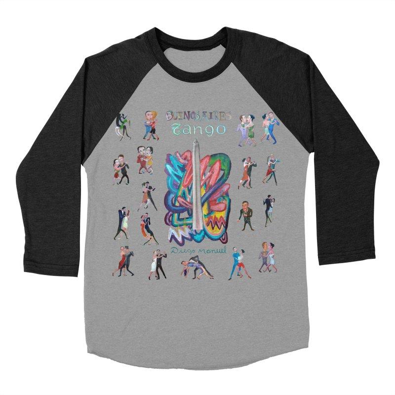 Buenos Aires tango 6 Men's Baseball Triblend Longsleeve T-Shirt by diegomanuel's Artist Shop