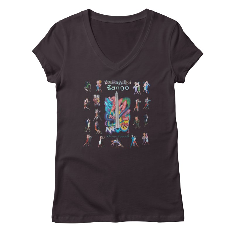 Buenos Aires tango 6 Women's V-Neck by Diego Manuel Rodriguez Artist Shop