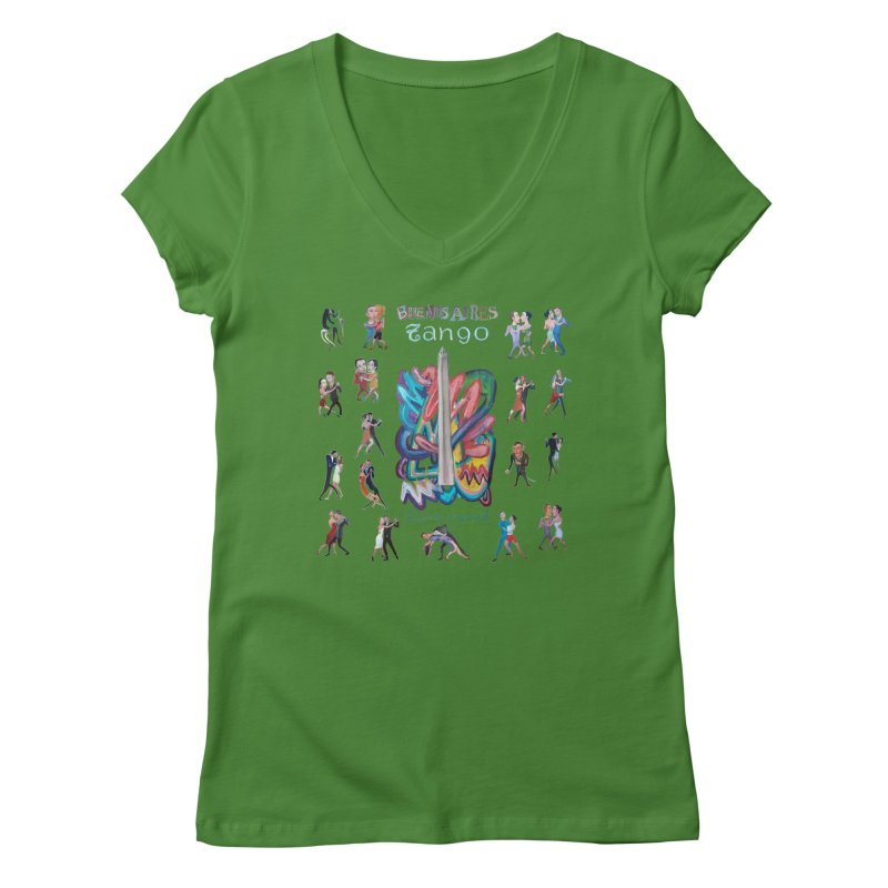Buenos Aires tango 6 Women's Regular V-Neck by diegomanuel's Artist Shop