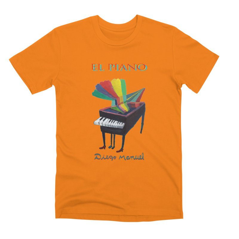 El Piano Men's T-Shirt by Diego Manuel Rodriguez Artist Shop