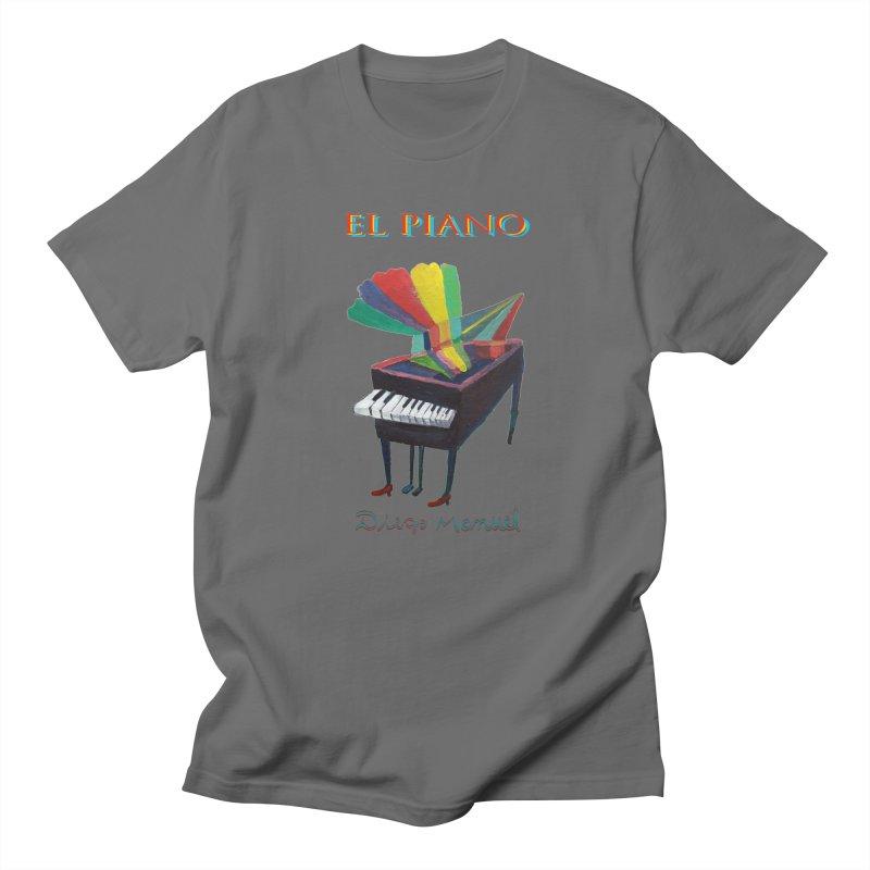El Piano Men's T-Shirt by Diego Manuel Rodriguez Artist Shop