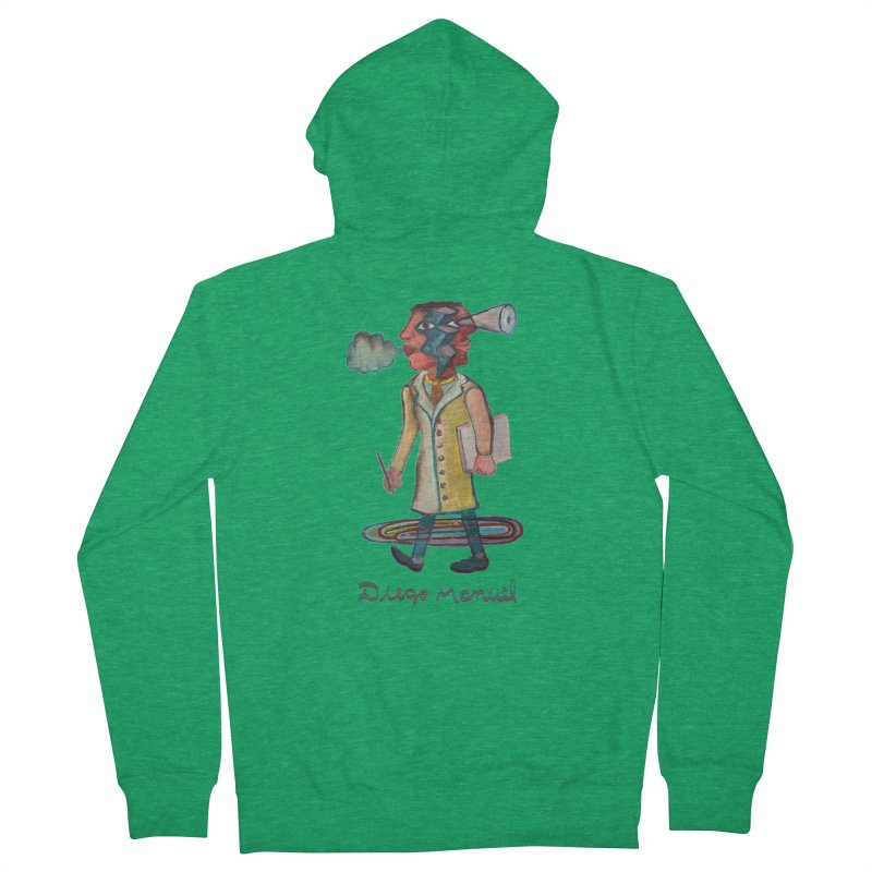 The painter 9,  People of the neighborhood Men's Zip-Up Hoody by Diego Manuel Rodriguez Artist Shop