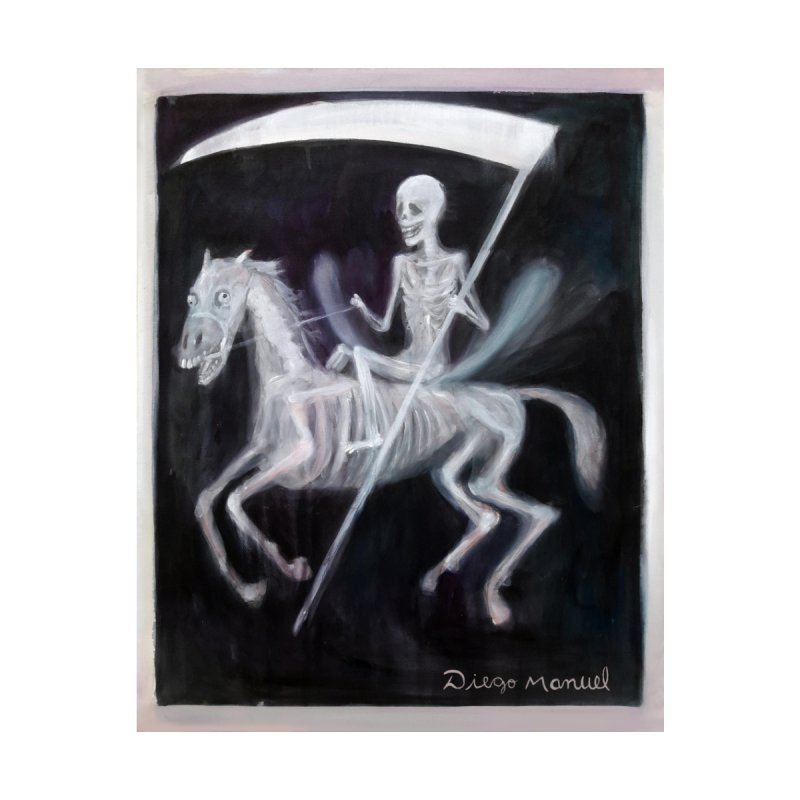 The death Men's Zip-Up Hoody by Diego Manuel Rodriguez Artist Shop