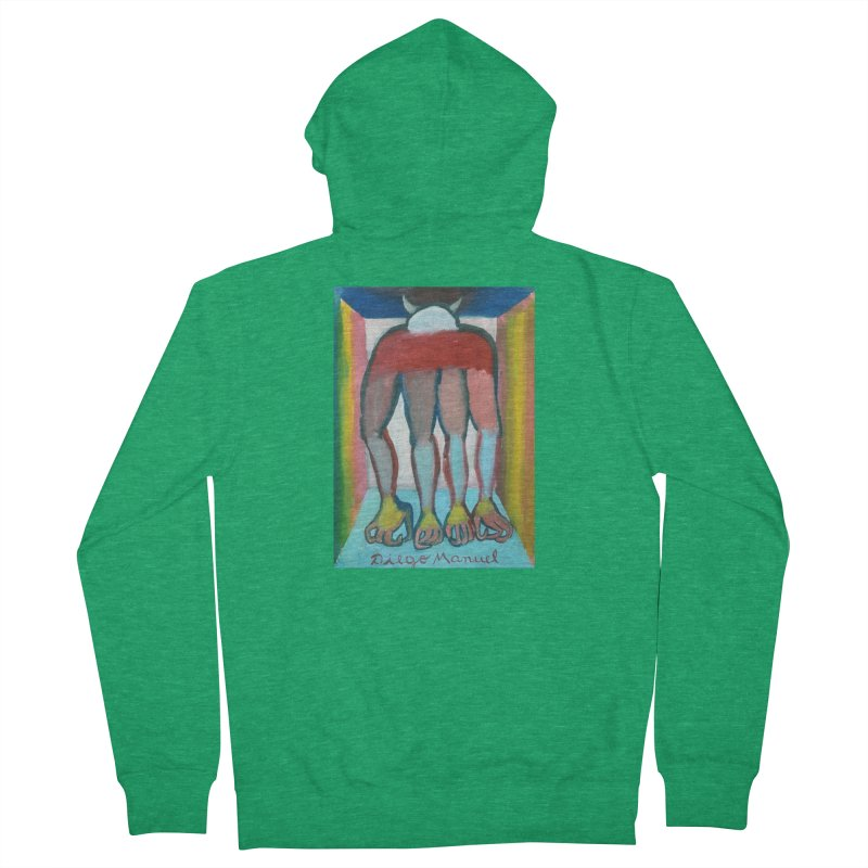 extraterrestrial animal 1 Men's Zip-Up Hoody by Diego Manuel Rodriguez Artist Shop