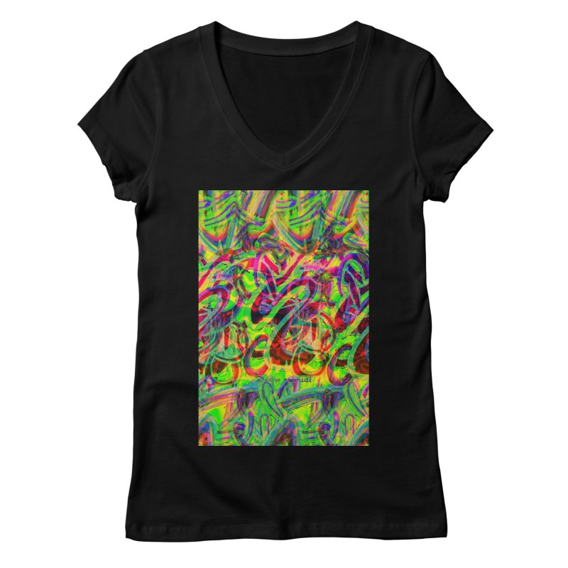 Shapes 18 2 Women's V-Neck by Diego Manuel Rodriguez Artist Shop