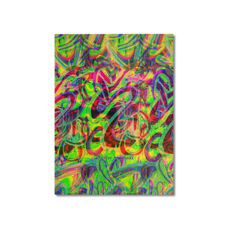 Shapes 18 2 Home Mounted Aluminum Print by Diego Manuel Rodriguez Artist Shop