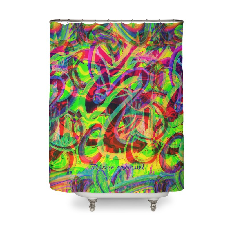 Shapes 18 2 Home Shower Curtain by Diego Manuel Rodriguez Artist Shop