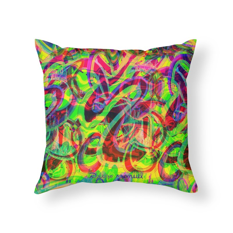 Shapes 18 2 Home Throw Pillow by Diego Manuel Rodriguez Artist Shop