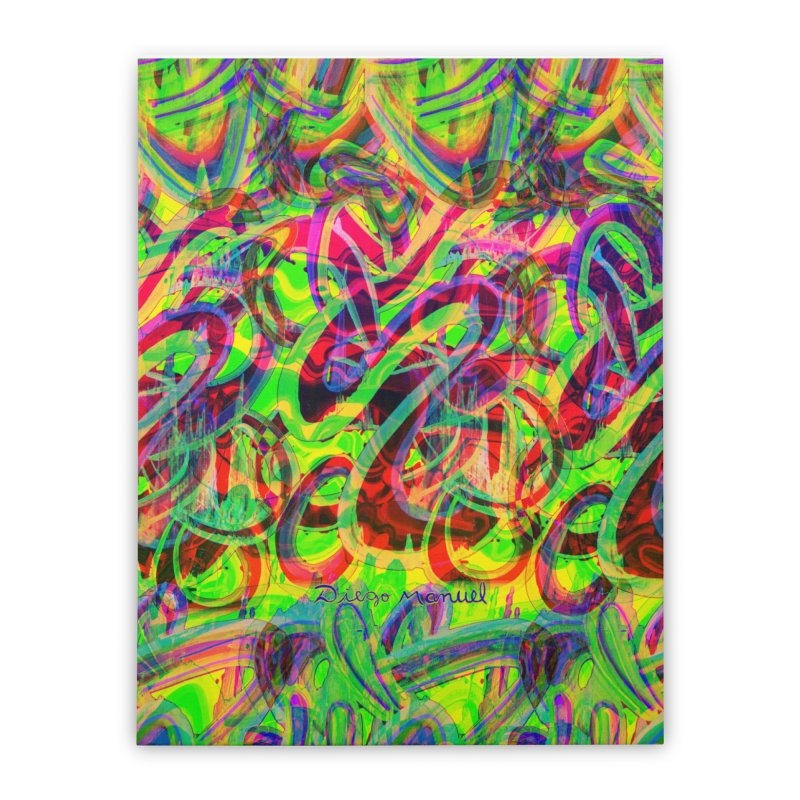 Shapes 18 2 Home Stretched Canvas by Diego Manuel Rodriguez Artist Shop