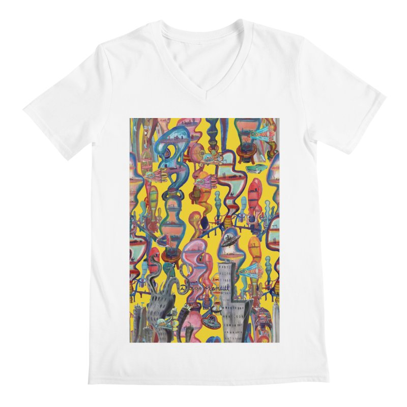 city 1 Men's V-Neck by Diego Manuel Rodriguez Artist Shop