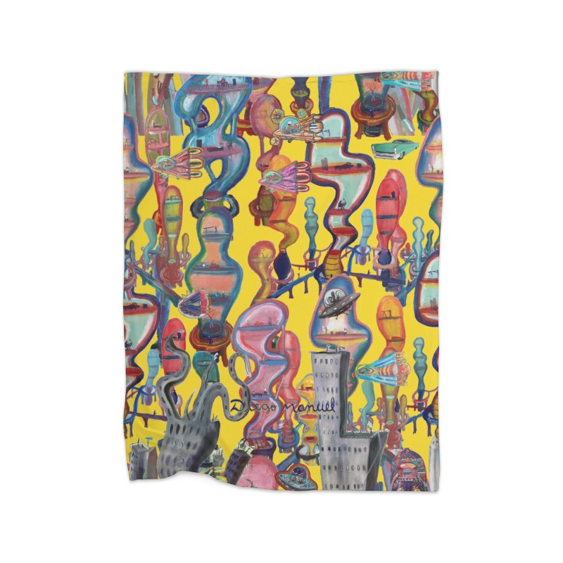 city 1 Home Blanket by Diego Manuel Rodriguez Artist Shop
