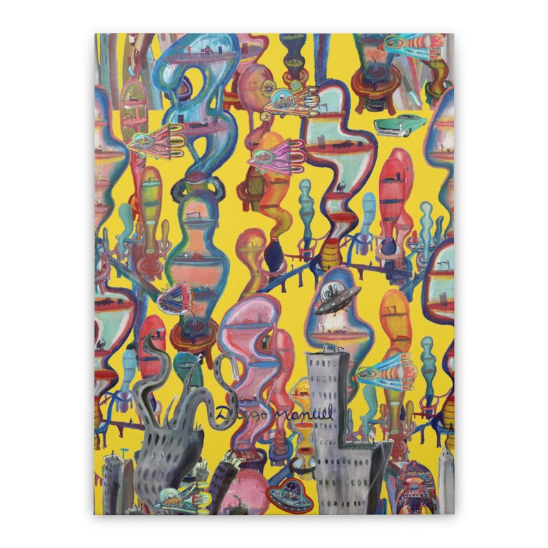 city 1 Home Stretched Canvas by Diego Manuel Rodriguez Artist Shop