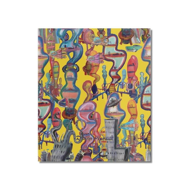 city 1 Home Mounted Acrylic Print by Diego Manuel Rodriguez Artist Shop