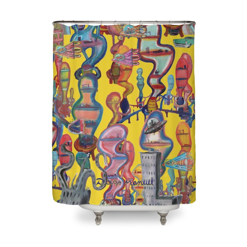 city 1 Home Shower Curtain by Diego Manuel Rodriguez Artist Shop