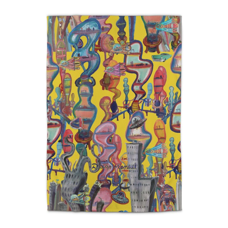 city 1 Home Rug by Diego Manuel Rodriguez Artist Shop