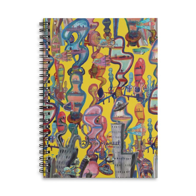 city 1 Accessories Notebook by Diego Manuel Rodriguez Artist Shop