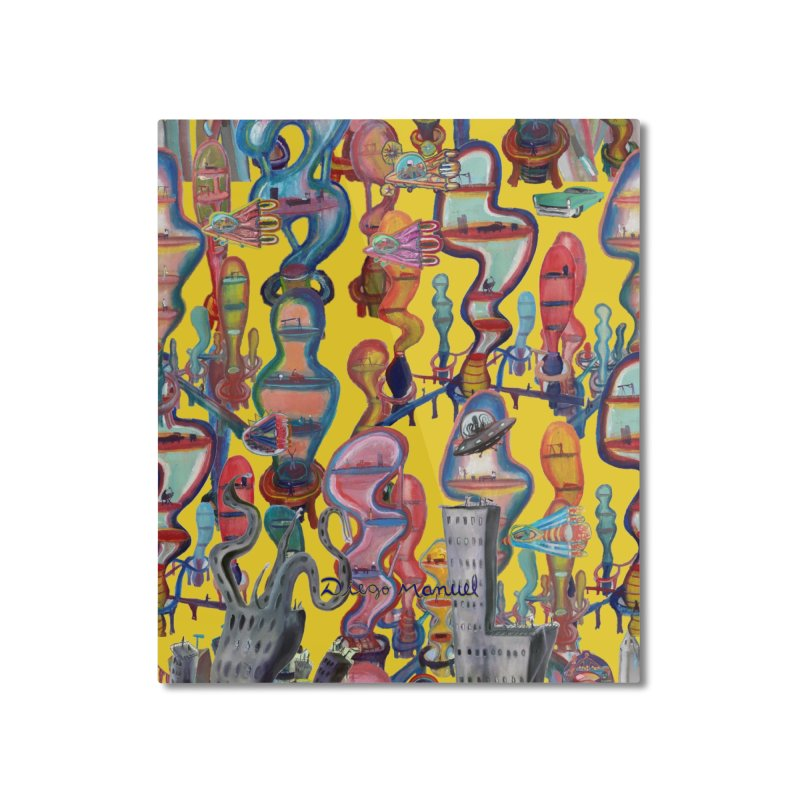 city 1 Home Mounted Aluminum Print by Diego Manuel Rodriguez Artist Shop