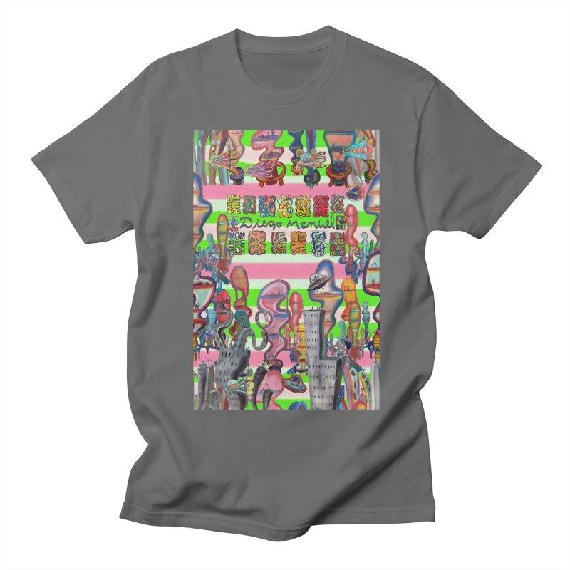 city 14 Men's T-Shirt by Diego Manuel Rodriguez Artist Shop