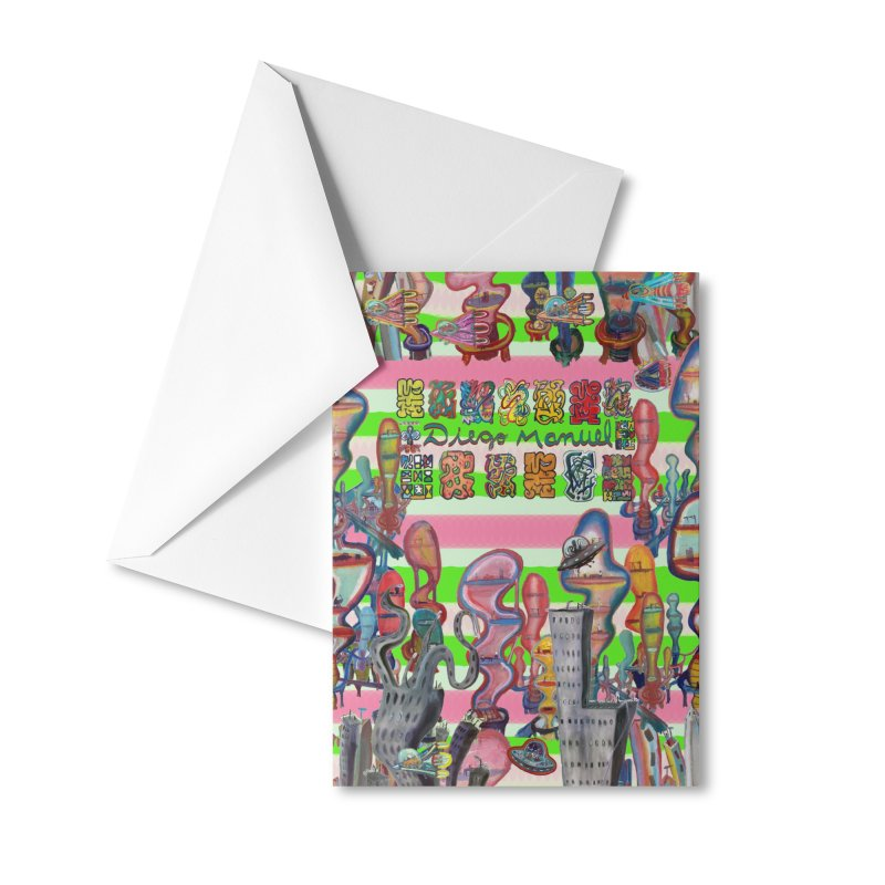 city 14 Accessories Greeting Card by Diego Manuel Rodriguez Artist Shop