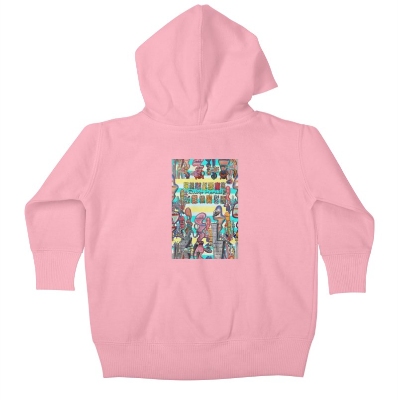 city 11 Kids Baby Zip-Up Hoody by Diego Manuel Rodriguez Artist Shop