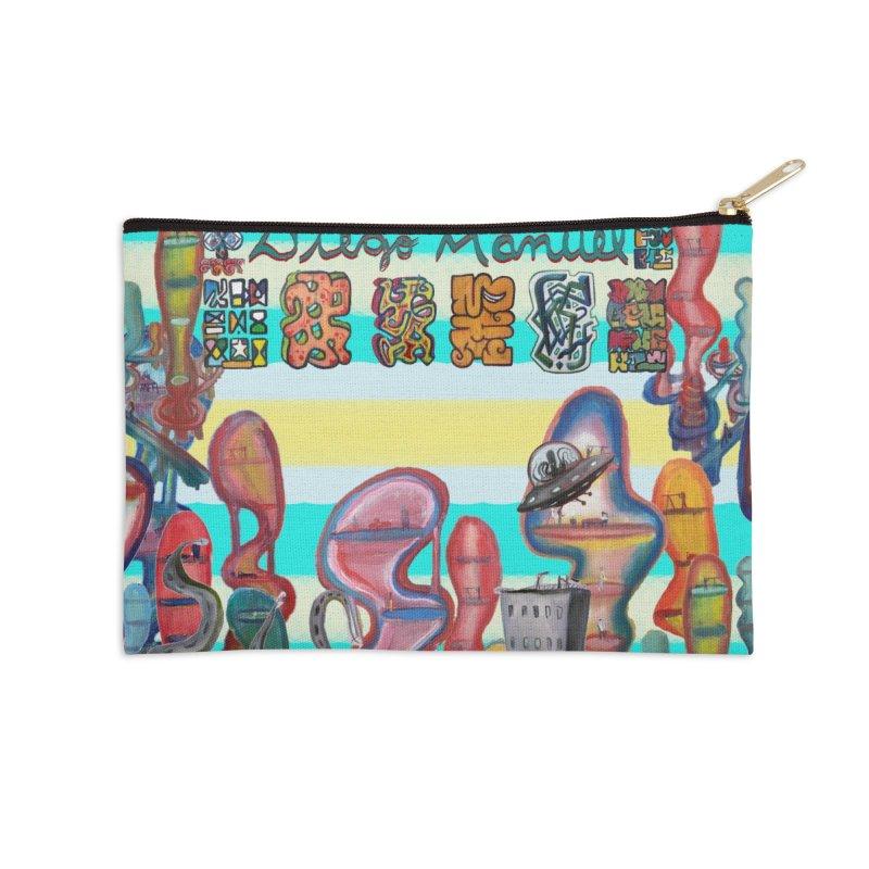 city 11 Accessories Zip Pouch by Diego Manuel Rodriguez Artist Shop
