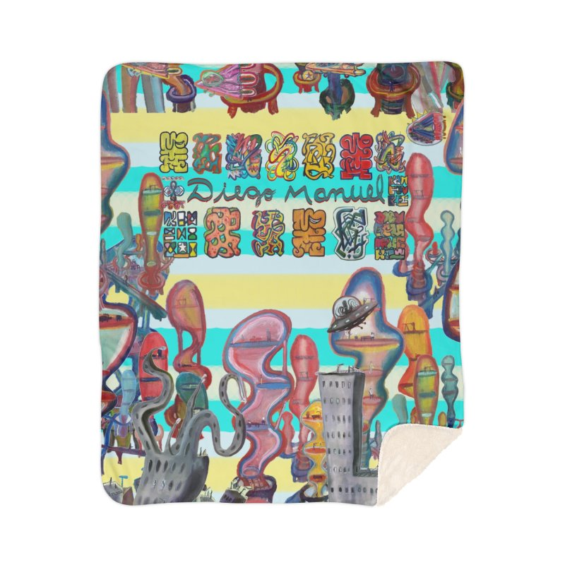 city 11 Home Blanket by Diego Manuel Rodriguez Artist Shop