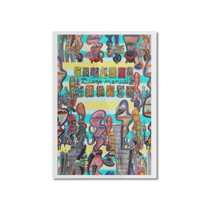 city 11 Home Mounted Aluminum Print by Diego Manuel Rodriguez Artist Shop