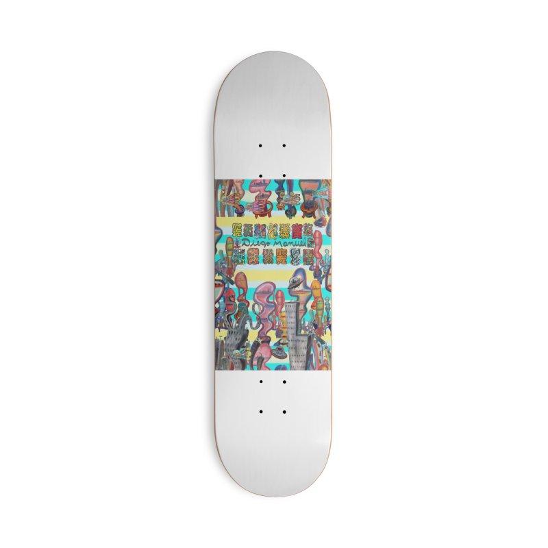 city 11 Accessories Skateboard by Diego Manuel Rodriguez Artist Shop
