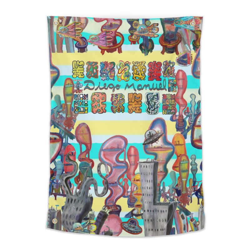 city 11 Home Tapestry by Diego Manuel Rodriguez Artist Shop