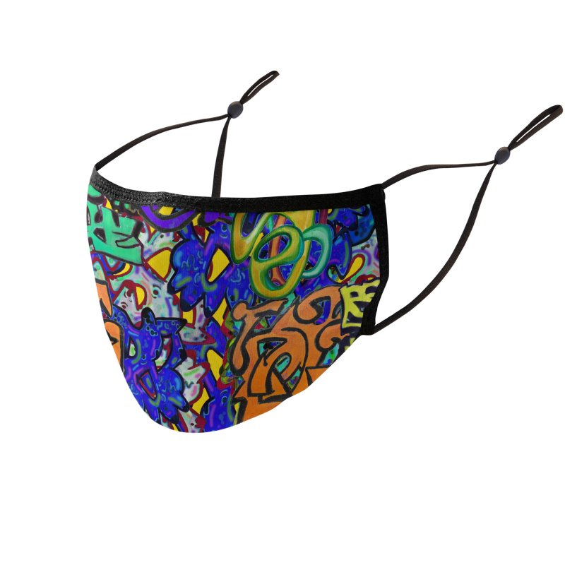 Graffiti 23 Accessories Face Mask by Diego Manuel Rodriguez Artist Shop
