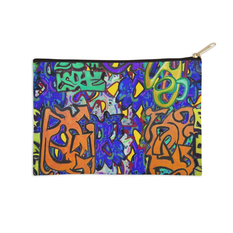 Graffiti 23 Accessories Zip Pouch by Diego Manuel Rodriguez Artist Shop