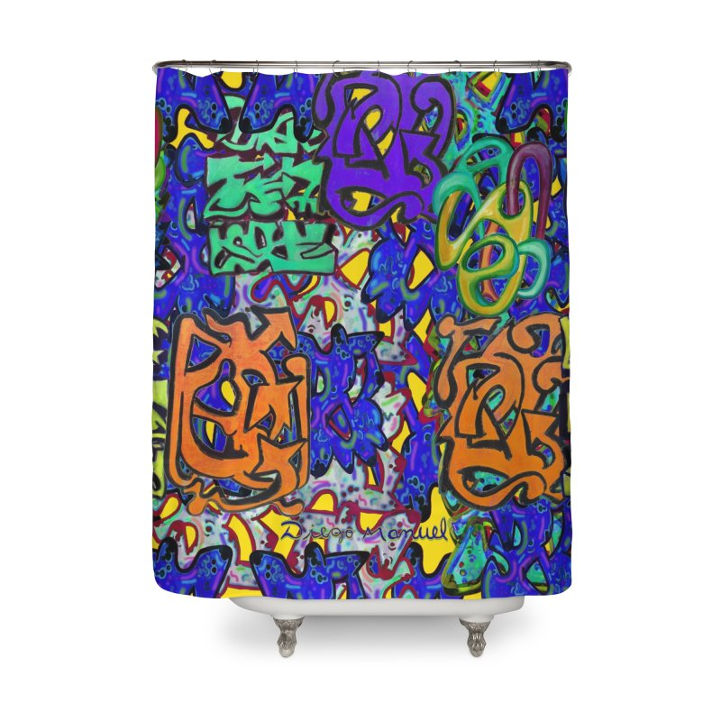 Graffiti 23 Home Shower Curtain by Diego Manuel Rodriguez Artist Shop