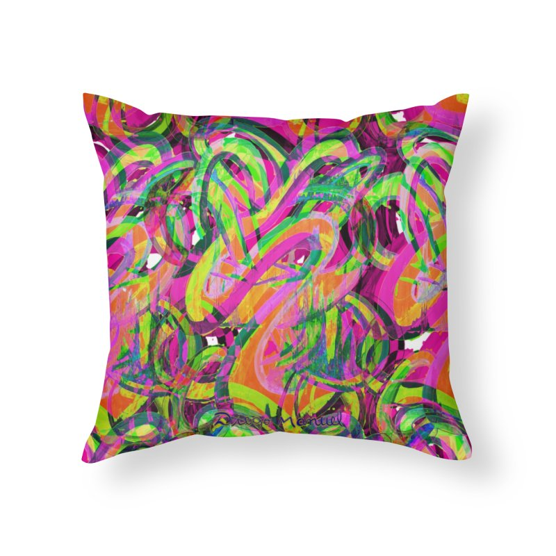 shapes 18 10 Home Throw Pillow by Diego Manuel Rodriguez Artist Shop