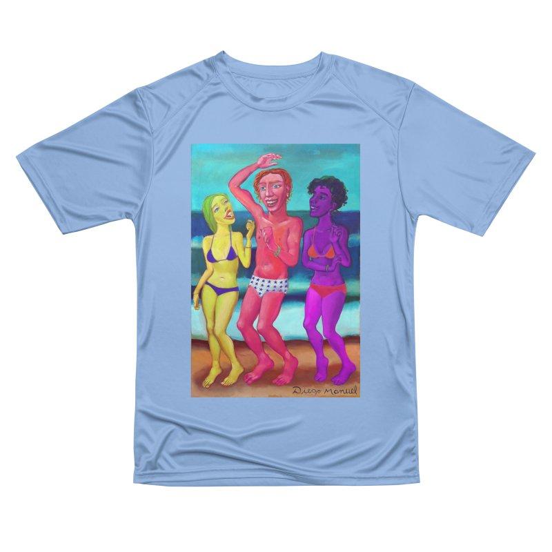 Dancing on the beach 10 4 Women's T-Shirt by Diego Manuel Rodriguez Artist Shop