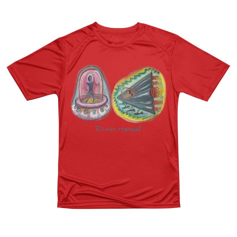 space battle Women's T-Shirt by Diego Manuel Rodriguez Artist Shop