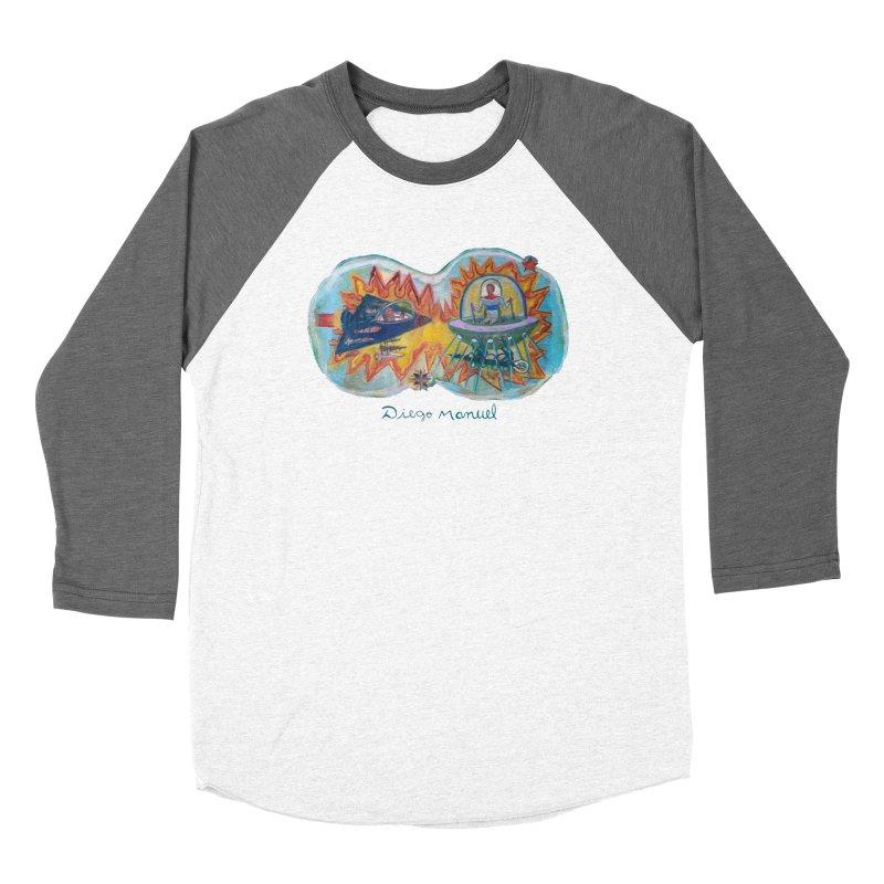 space battle Women's Longsleeve T-Shirt by Diego Manuel Rodriguez Artist Shop