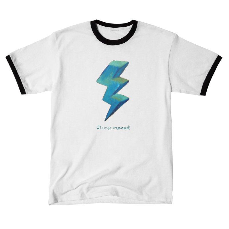 Blue ray Men's T-Shirt by Diego Manuel Rodriguez Artist Shop