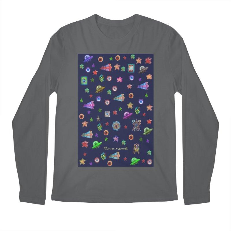 Space Men's Longsleeve T-Shirt by Diego Manuel Rodriguez Artist Shop