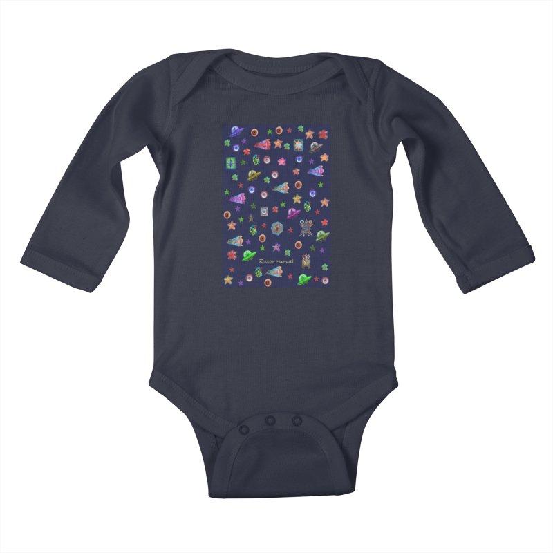 Space Kids Baby Longsleeve Bodysuit by Diego Manuel Rodriguez Artist Shop