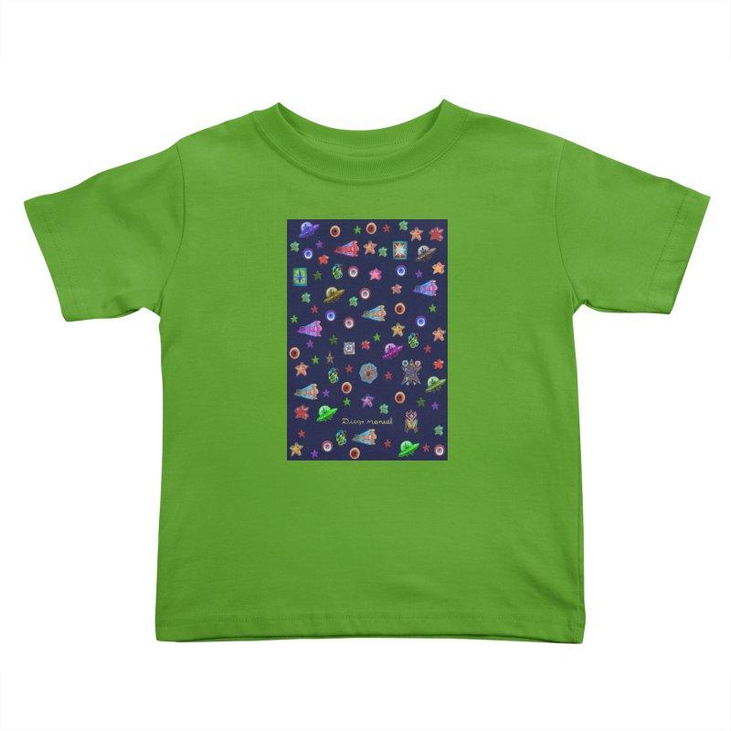 Space Kids Toddler T-Shirt by Diego Manuel Rodriguez Artist Shop