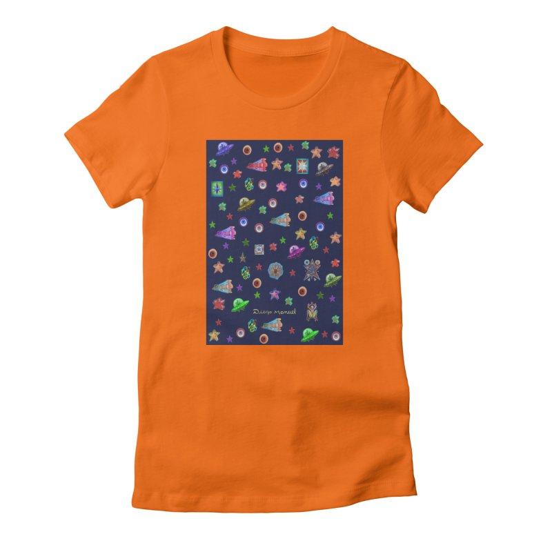 Space Women's T-Shirt by Diego Manuel Rodriguez Artist Shop