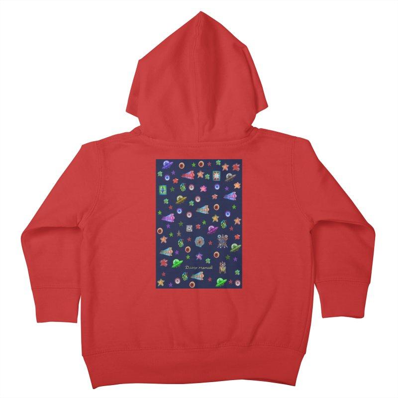 Space Kids Toddler Zip-Up Hoody by Diego Manuel Rodriguez Artist Shop