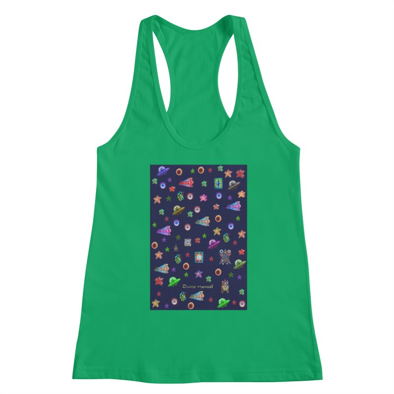 the space Women's Tank by Diego Manuel Rodriguez Artist Shop