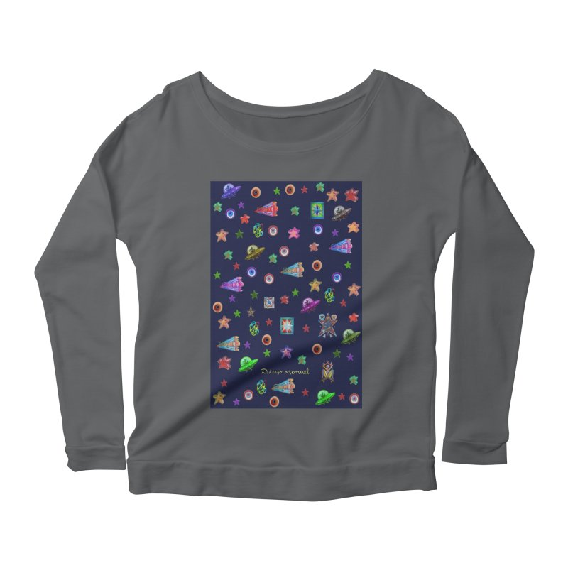 the space Women's Longsleeve T-Shirt by Diego Manuel Rodriguez Artist Shop