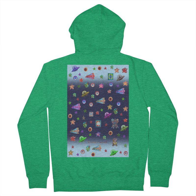 The space Men's Zip-Up Hoody by Diego Manuel Rodriguez Artist Shop